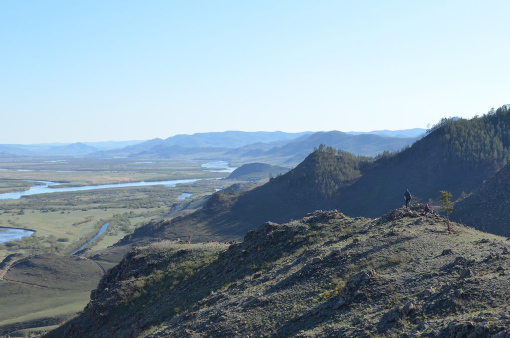 Панорама с креста на долину селенги