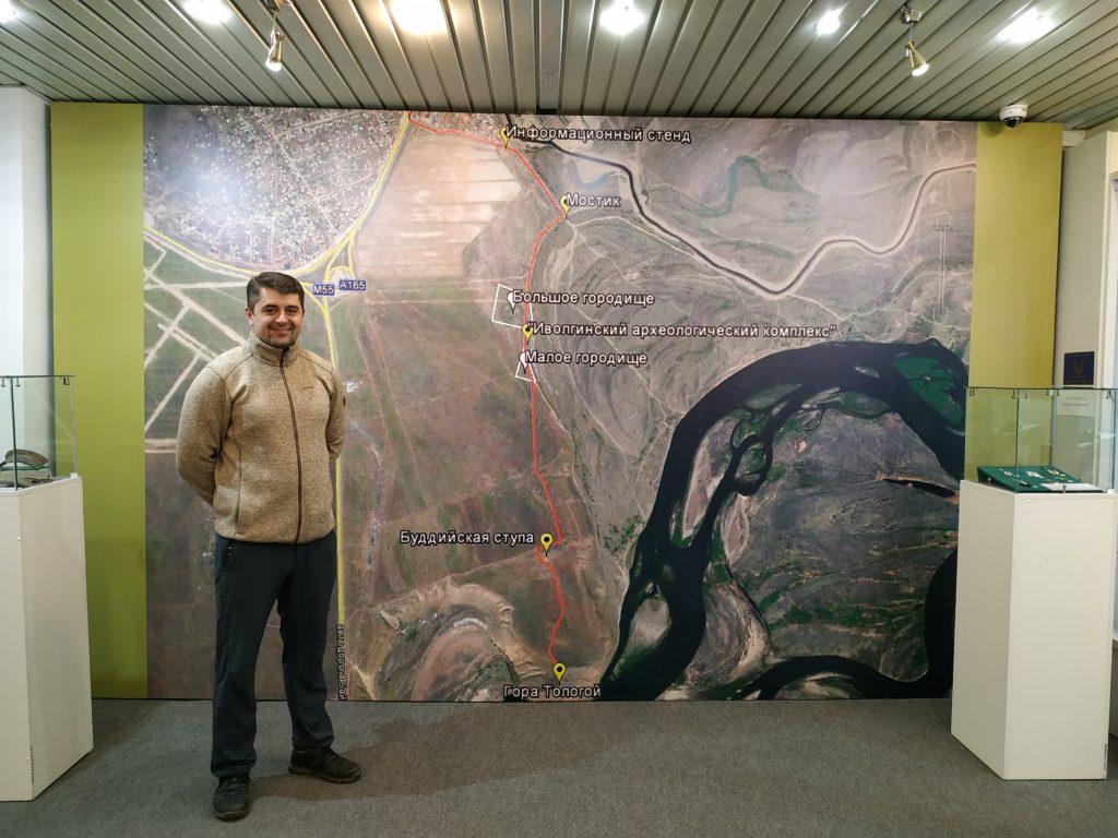 Карта в музее