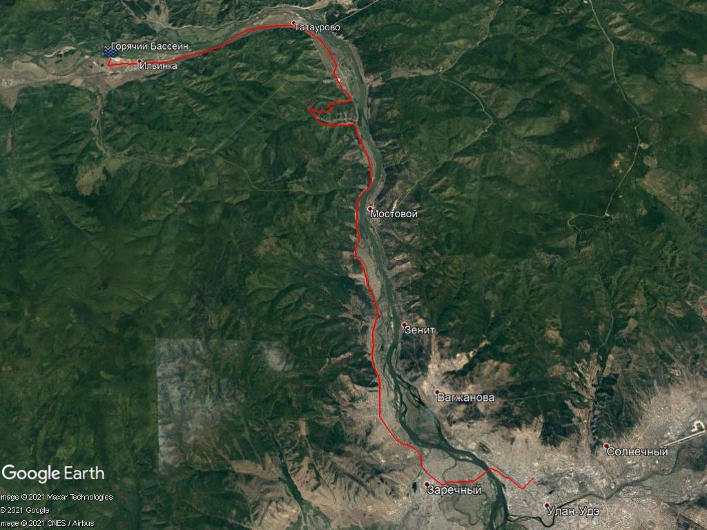 Путь от Улан-Удэ до п. Ильинка