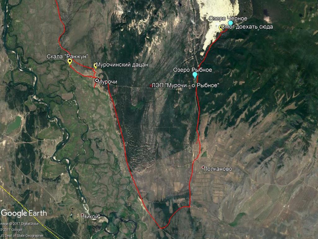 Карта моего проезда к Аман-хан